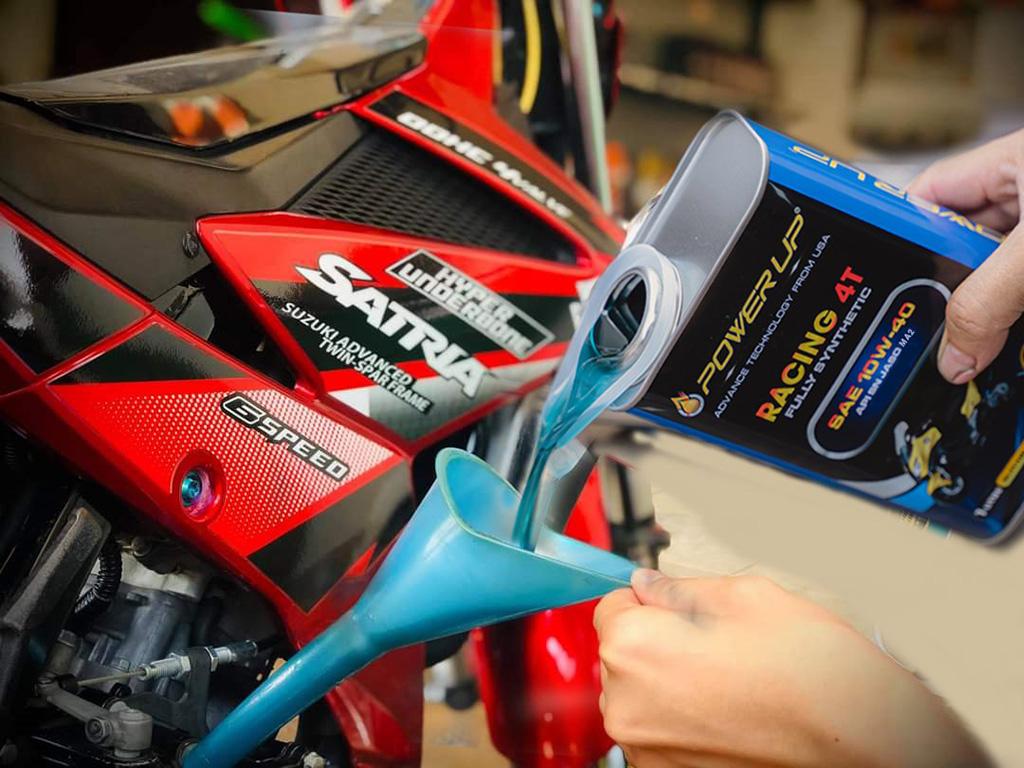 Dầu nhớt cho xe phân khối lớn Racing10W40 4T Power Up