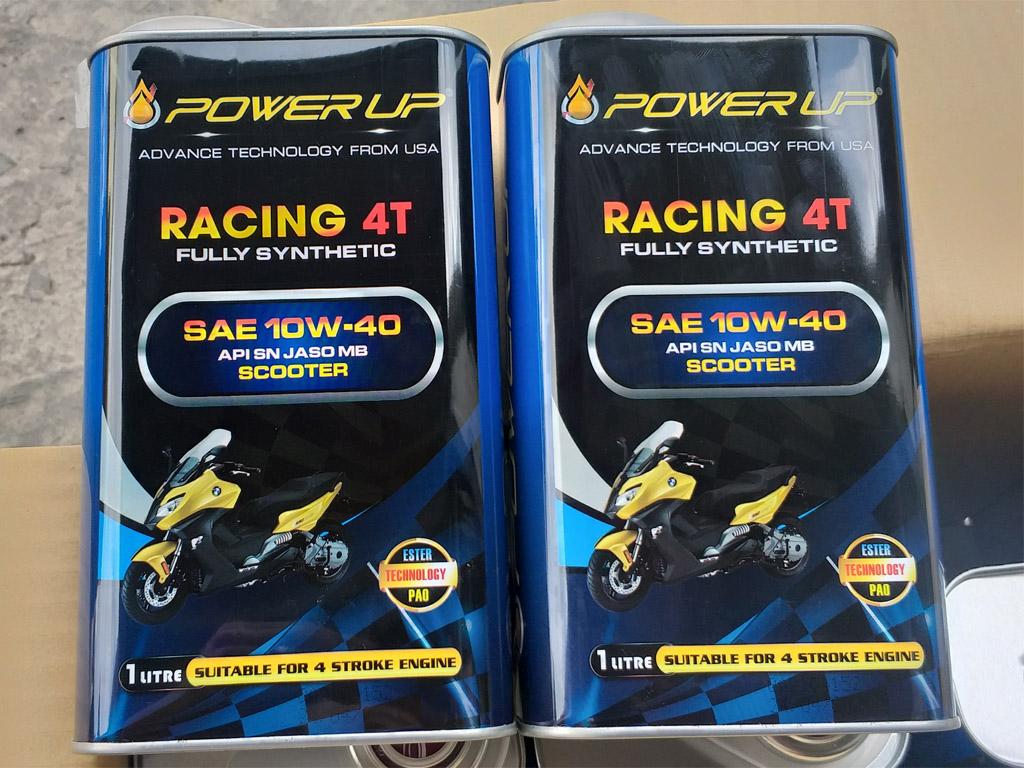 Dầu nhớt Power Up Racing 4T 10W40 hàng chính hãng nhập khẩu
